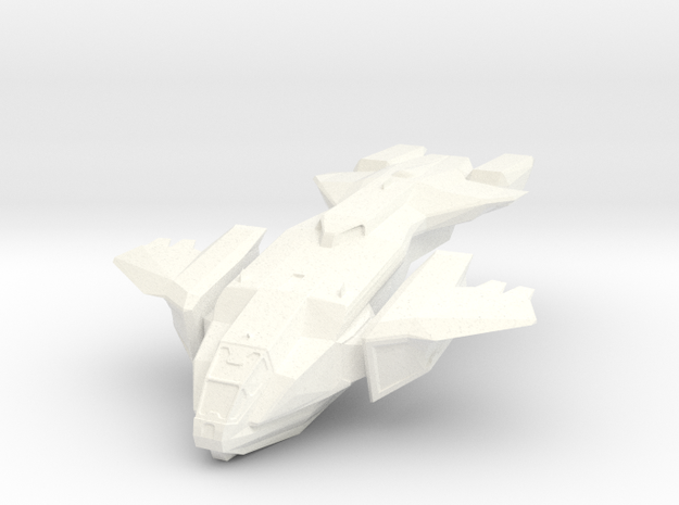 Halo Pelican Ship 11cm spaceship in White Strong & Flexible Polished