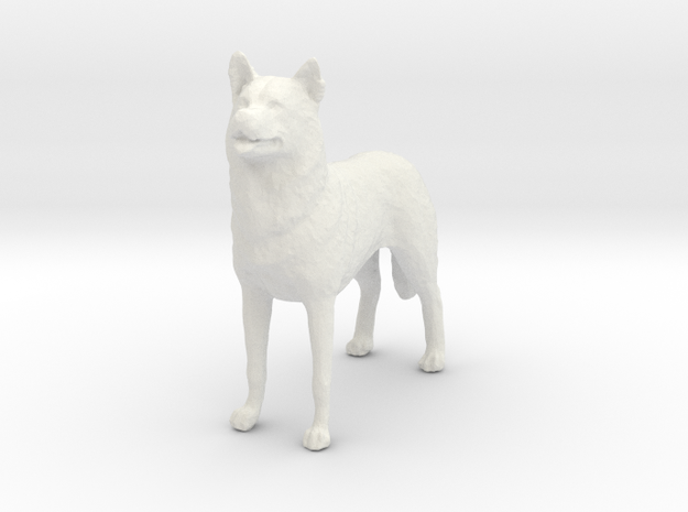 1/24 or G scale Siberian Husky Male Standing in White Natural Versatile Plastic