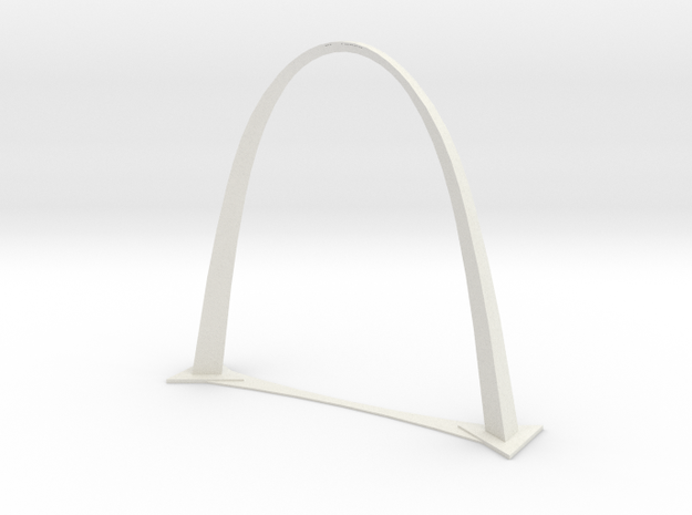 St. Louis Gateway Arch  in White Natural Versatile Plastic