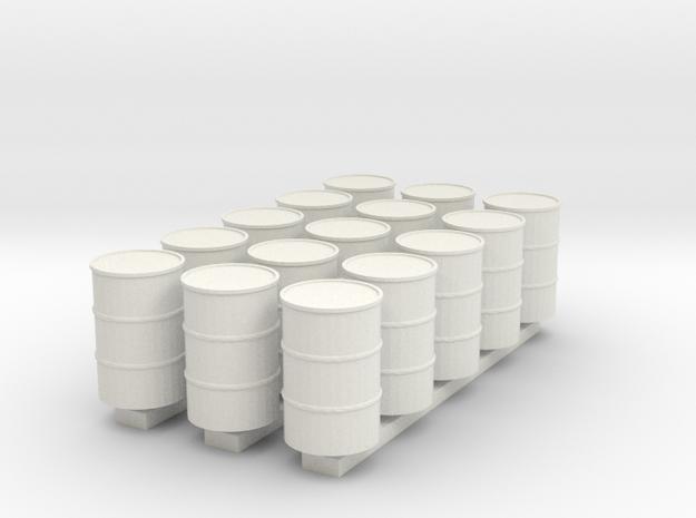 'HO Scale' - (15) 55 Gallon Drums
