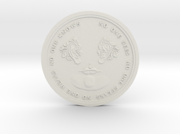 No One Coin in White Natural Versatile Plastic
