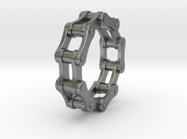 Violetta S. - Bicycle Chain Ring in Natural Silver: 7 / 54