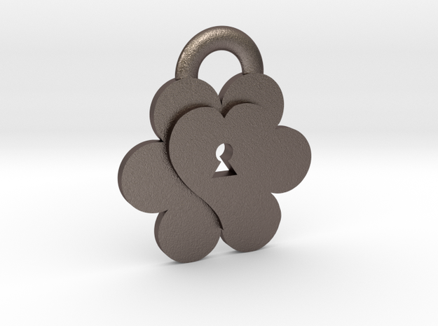 Keys to Kindness Pendant in Polished Bronzed Silver Steel