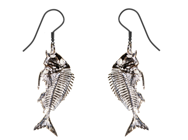 Littlehead Porgy Fish Skeleton Pendant