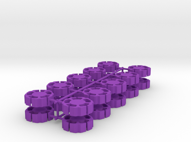 Game Piece, Clone Masters Station, 20-set in Purple Processed Versatile Plastic