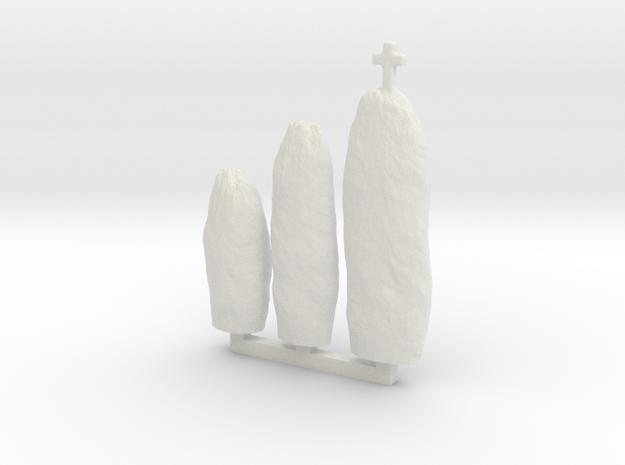 NPh01 Menhirs in White Natural Versatile Plastic