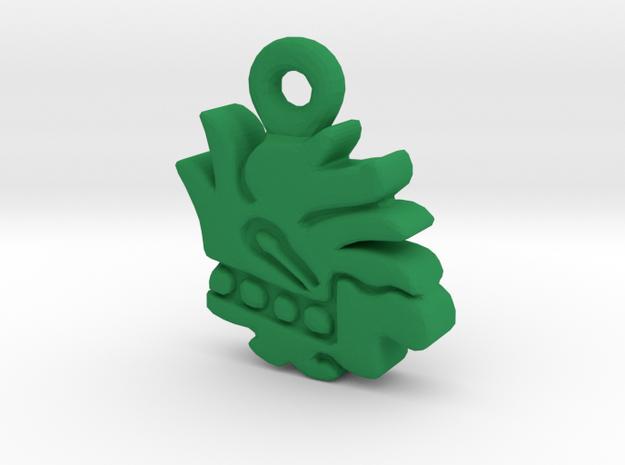Aztec Herb Pendant in Green Processed Versatile Plastic