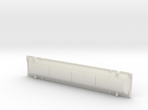 HO scale 1/87 Railroad car Hood, 50' #4 in White Natural Versatile Plastic