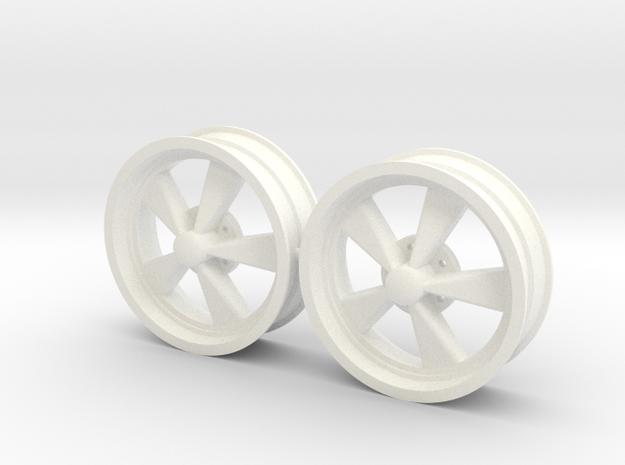 CragarSS 5 Inch Pair 1/12 in White Processed Versatile Plastic