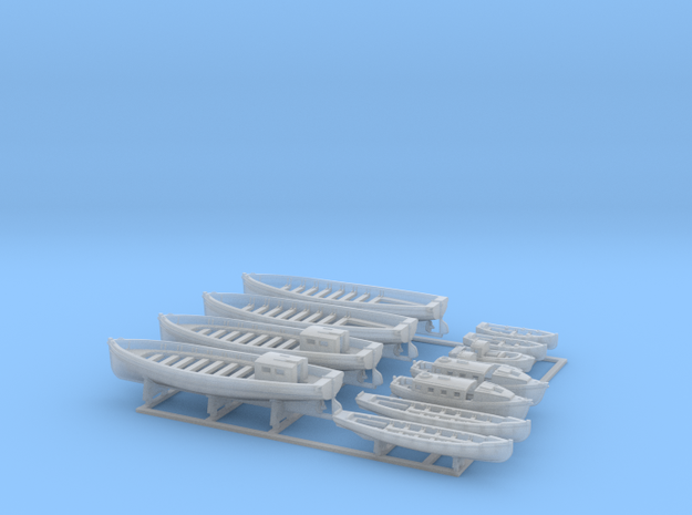 1/350 WW2 RN Boat Set 2 with Mounts