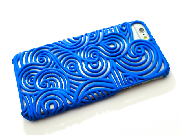 Flow Case for Iphone 6 and 7  in Blue Processed Versatile Plastic