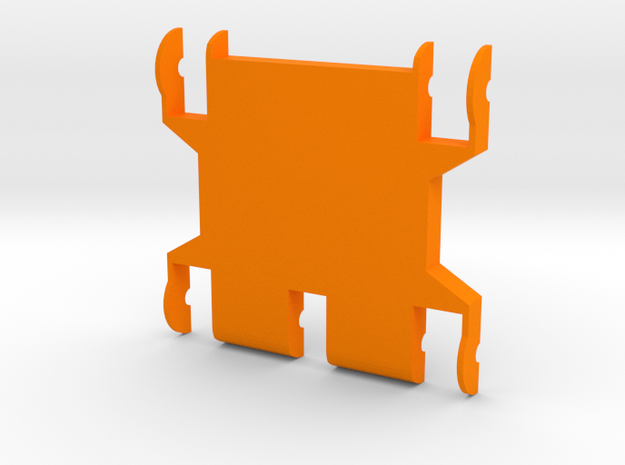 Foxic 1/10th scale body bottom in Orange Processed Versatile Plastic