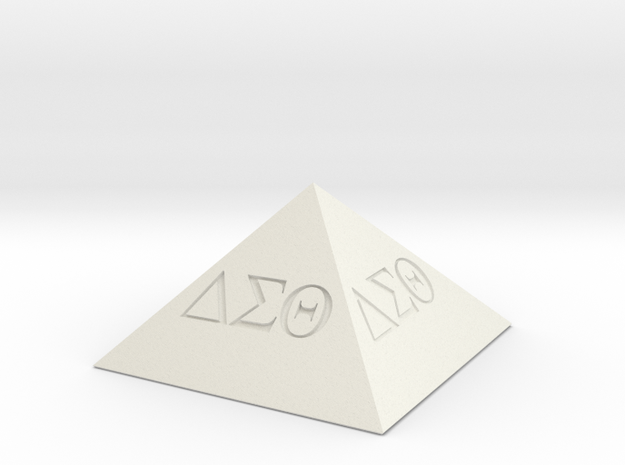 Delta Sigma Theta Decorative Pyramid in White Natural Versatile Plastic
