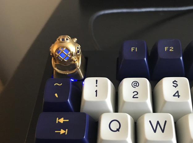Diver Helmet (For Cherry MX Keycap)
