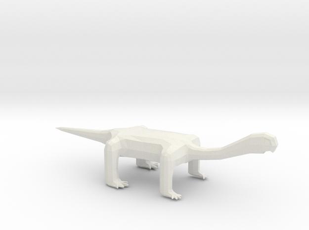 Long Neck Mini Monster in White Natural Versatile Plastic: Extra Small