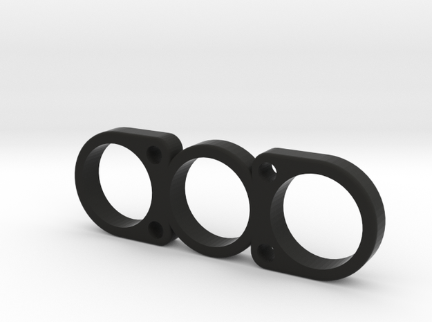 The Nnela - Fidget Spinner in Black Natural Versatile Plastic