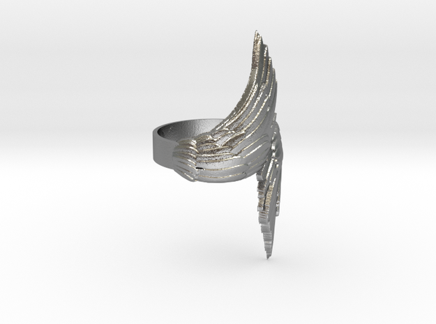 Wings Ring in Raw Silver