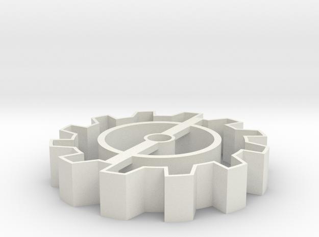 Steampunk gear Cookie Cutter 5 in White Natural Versatile Plastic