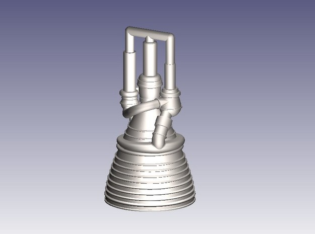 J-2 Engine (1:200) for Saturn IB or V in Smooth Fine Detail Plastic