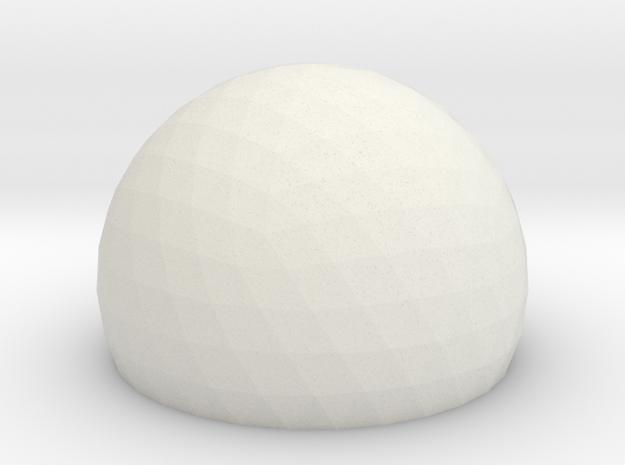 Geodesic Dome Sphere v6 21cm in White Strong & Flexible