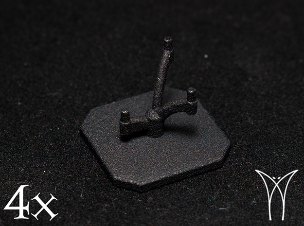 4 Squadron Bases  in Black Natural Versatile Plastic