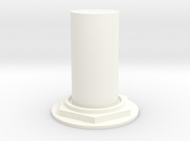 Lunar Module Button 1 in White Processed Versatile Plastic