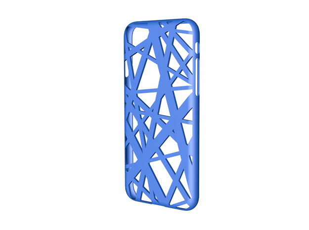 iPhone 7 & 8 Case_Intersection in Blue Processed Versatile Plastic