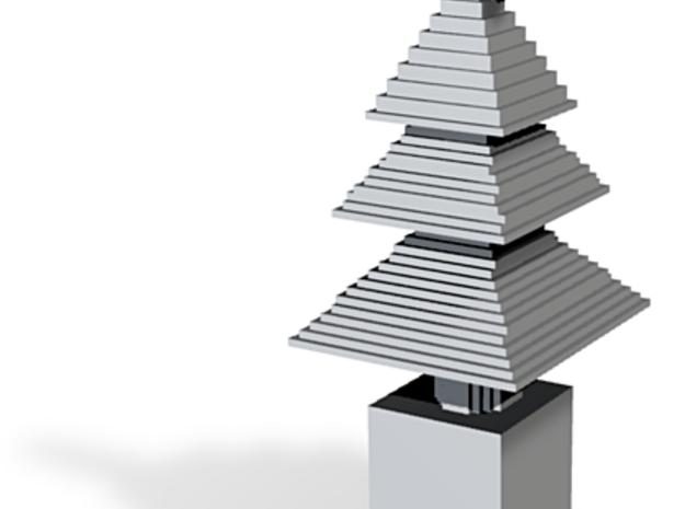 minecraft christmas tree ornament 3d printed