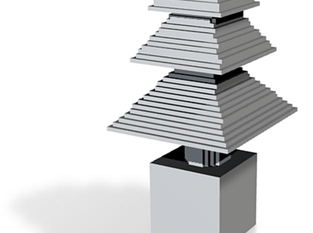 minecraft xmas tree 3d printed