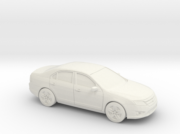 1/43 2009-12 Ford Fusion in White Natural Versatile Plastic