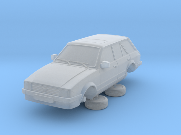 Ford Escort Mk3 1-87 4 Door Standard Estate in Smooth Fine Detail Plastic