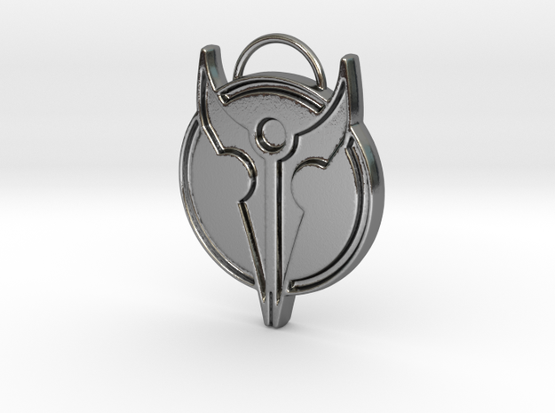 Hero's Pendant in Polished Silver