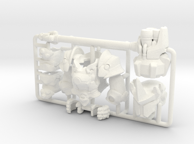 Custom Reinhardt Inspired Figure for Lego in White Processed Versatile Plastic