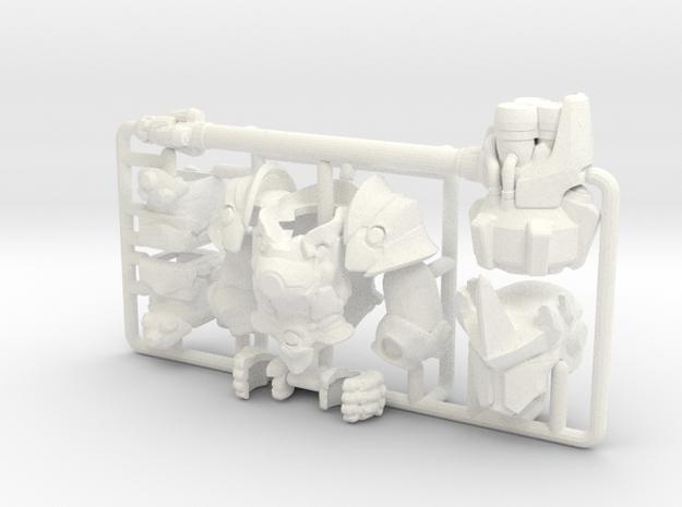 Custom Reinhardt Inspired Lego in White Processed Versatile Plastic