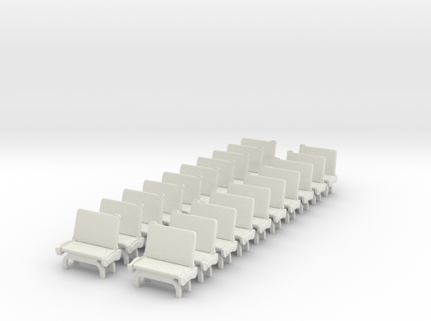 TARS Brill O scale - SEATS in White Natural Versatile Plastic