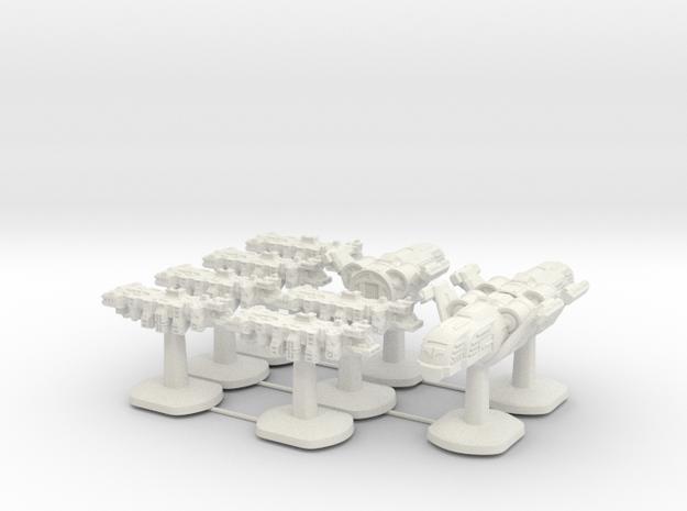 Tempus Nautica Board Game Pieces - Full set of shi in White Natural Versatile Plastic