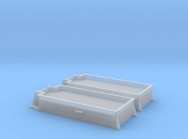 Kohlekasten für MiniTrix T32 Tender 1:160 2 stück in Frosted Extreme Detail