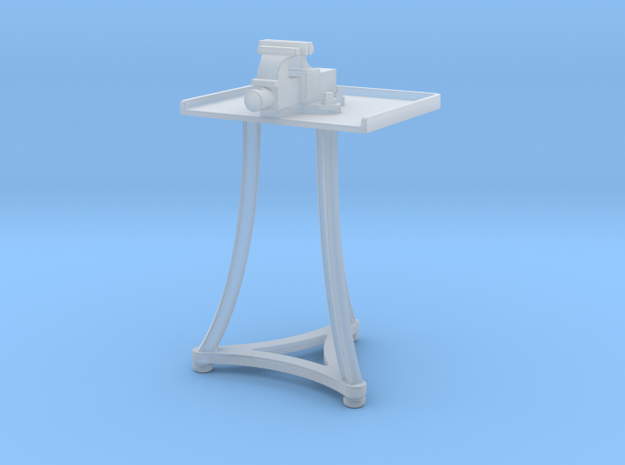 1:20.3 Blacksmith Vise Table in Smooth Fine Detail Plastic