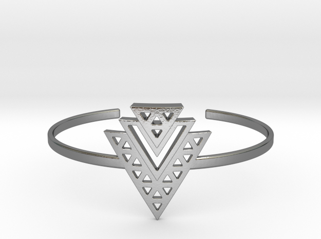 Vértice Tiered Cuff in Polished Silver