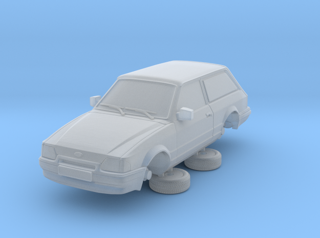Ford Escort Mk4 1-76 2 Door Small Van Hollow (repa in Frosted Ultra Detail