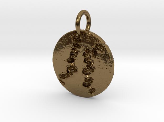 baseball in Polished Bronze