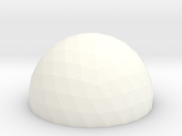 Geodesic Dome 5v 15cm in White Strong & Flexible Polished