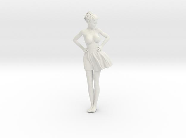 Miniskirt Girl 003-1/10 in White Natural Versatile Plastic: 1:10