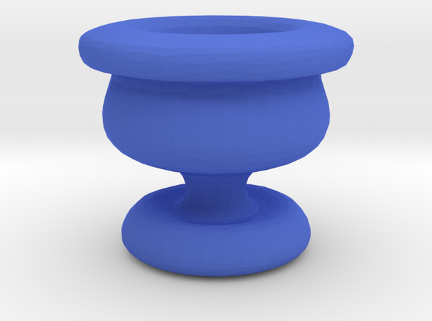 Mini Apothecary Pot - chalice design in Blue Processed Versatile Plastic
