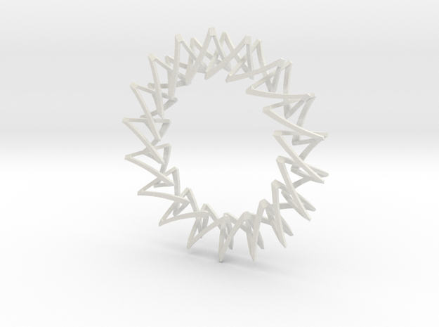 Necklace Escher in White Natural Versatile Plastic
