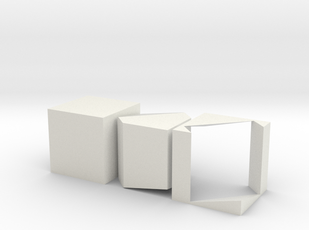 Prince Rupert's Cube in White Strong & Flexible