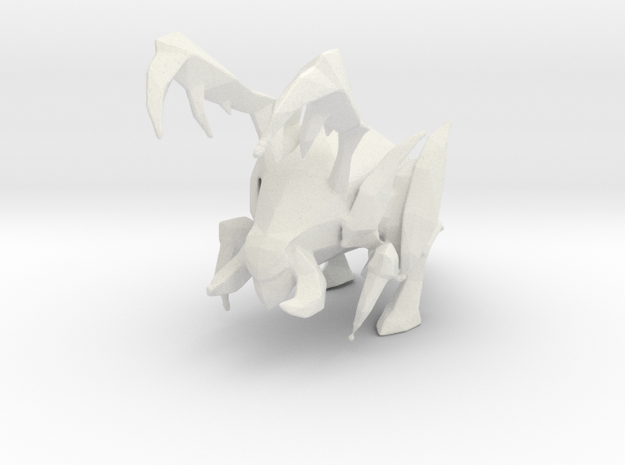 1/60 Zergling in White Natural Versatile Plastic