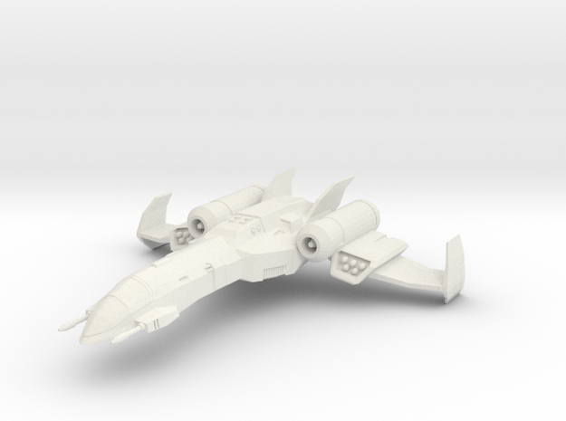 Tactical Star Fighter in White Natural Versatile Plastic