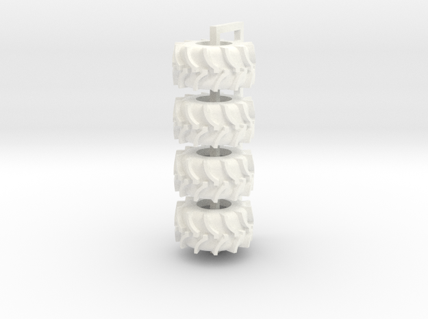 35.5 Rice Tire in White Processed Versatile Plastic