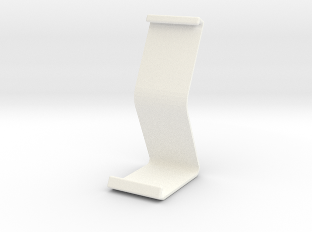 Ipad Stand V1 in White Strong & Flexible Polished